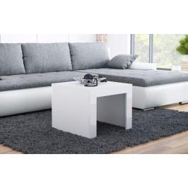 Artcam Konferenčný stolík TESS 60x60 cm Farba: Biela/biely lesk