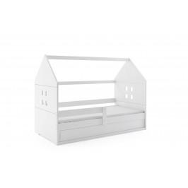 BMS Detská posteľ domček DOMI 1 biela s úložným priestorom Farba: Biela / biela