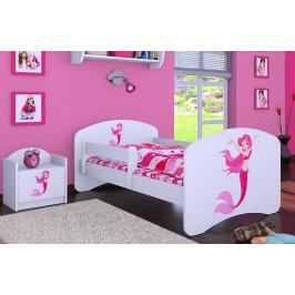 Happy Babies Detská posteľ HAPPY/ 21 Morská panna 180 x 90 cm Farba: Biela / biela, Prevedenie: L05 / 90 x 180 cm / bez úložného priestoru, Obrázok: Morská panna