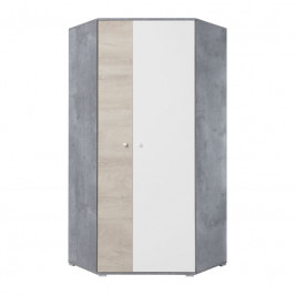 Meblar  Šatníková skriňa Sigma SI2 L/P Farba: beton/biela/dub