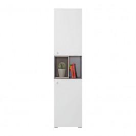 Meblar  Regál Sigma SI5 L/P Farba: beton/biela/dub