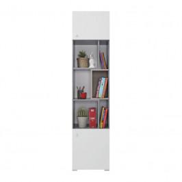 Meblar  Regál Sigma SI6 L/P Farba: beton/biela/dub
