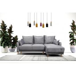 MEB, PAULIE rozkladacia rohová sedačka s úložným priestorom, 223x150 cm