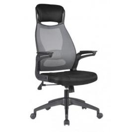 HALMAR, SOLARIS kancelárska stolička, čierno-sivá