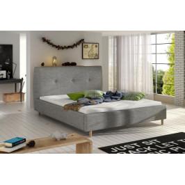 ETP, BERIO čalúnená posteľ 140-160x200 cm, sivá