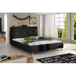 ETP, BERIO čalúnená posteľ 140-160x200 cm, čierná