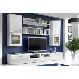 ICK, FORTE II Obývacia stena, biely mat/bielý lesk