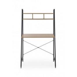 HALMAR, NARVIK B-2 písací stôl, dub sonoma/čierny