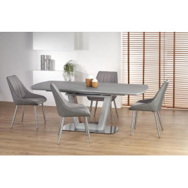 HALMAR, BILOTTI rozkladací jedálenský stôl 160-200 cm, dekor sivý mat/orech