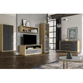 GLM, LAMIA minimalistická obývacia stena