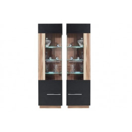 ME, DUBAI D2 vitrína, dekor čierny orech baltimore
