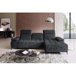 WRSL, DIEGO MINI moderná rohová sedacia súprava s nastaviteľnou hĺbkou sedenia, 277x177 cm