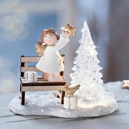Dekofigurka Anjel sa stromčekom