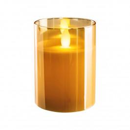 LED sviečka, zlatá metalíza