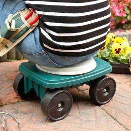 Záhradné pojazdné sedátko
