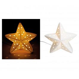 Porcelánová stolná lampa Hviezda