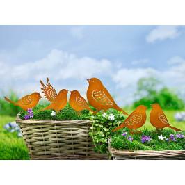 Záhradný zápich Vtáci, 6 kusov