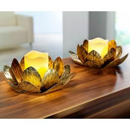 Svietnik Lotos s LED sviečkou