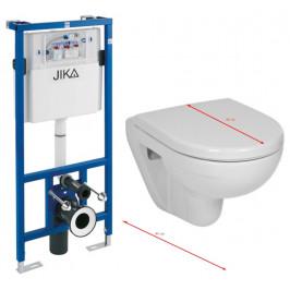 JIKA - předstěnový instalační systém bez tlačítka + WC JIKA LYRA PLUS 49 + SEDÁTKO DURAPLAST (H895652 X LY3)