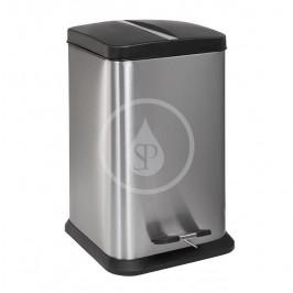 SANELA - Nerezové odpadkové koše Kôš z nehrdzavejúcej ocele, 6 l, matná SLZN 78X