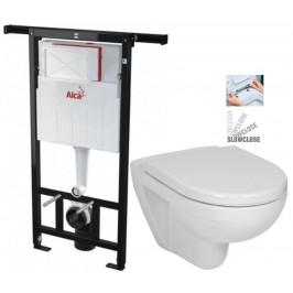 ALCAPLAST  Jádromodul - předstěnový instalační systém bez tlačítka + WC JIKA LYRA PLUS + SEDÁTKO DURAPLAST SLOWCLOSE (AM102/1120 X LY5)