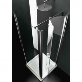 HOPA - Pevná stěna AQVA FISSO EV - Výška - 190 cm, Barva rámu zástěny - Leštěný hliník, Výplň - Čiré bezpečnostní sklo - 6 mm, Rozměr pevné stěny - 74 – 78 × 190 (v) cm (BQ2003CC)