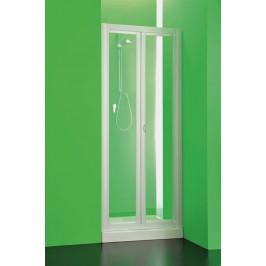 HOPA - Sprchová zástěna DOMINO - Výška - 185 cm, Barva rámu zástěny - Plast bílý, Provedení - Univerzální, Výplň - Čiré bezpečnostní sklo - 3 mm, Šíře - 80 cm (BSDOM90S)