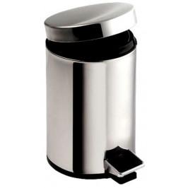 AQUALINE - SIMPLE LINE odpadkový koš kulatý 5l, leštěný nerez (27105)