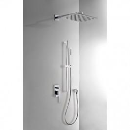 TRES - Podomítkový jednopákový sprchový sets uzávěrem a regulací průtoku. Včetně podomítkového tělesa Pevná sprcha 320x220 (20218007)