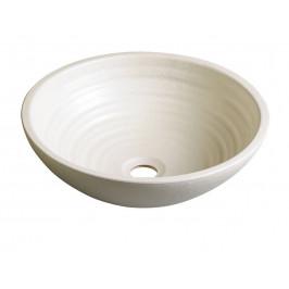SAPHO - ATTILA keramické umyvadlo, průměr 42,5 cm, slonová kost (DK005)