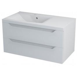 SAPHO - WAVE umyvadlová skříňka 89,7x45x47,8cm, levá, bílá (WA092L)