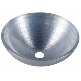 SAPHO - MURANO SILVER skleněné umyvadlo kulaté 40x14 cm, stříbrná (AL5318-68)