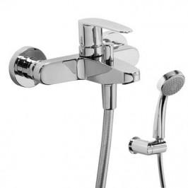 TRES - Jednopáková baterie pro vanu-sprchuRuční sprcha, proti usaz. vod. kamene, proti usaz. vod. kamene a flexi hadice SATIN. (20417001)