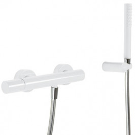 TRES - Sprchová baterieRuční sprcha snastavitelným držákem, proti usaz. vod. kamene. Flexi hadice SATIN. (26116701TBL)