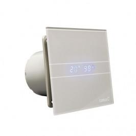 CATA - E-100 GSTH kúpeľňový ventilátor axiálny s automatom,4W/8W,potrubie 100mm,striebo 00900600