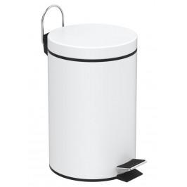 AQUALINE - SIMPLE LINE odpadkový koš kulatý 3l, bílá (28103)
