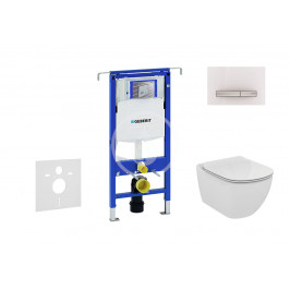 GEBERIT - Duofix Modul pro závěsné WC s tlačítkem Sigma50, alpská bílá + Ideal Standard Tesi - WC a sedátko (111.355.00.5 NF8)