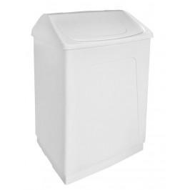 AQUALINE - Odpadkový koš výklopný, 55 l, bílý plast ABS (14027)