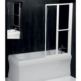 POLYSAN - LANKA2 pneumatická vanová zástěna 830 mm, stříbrný rám, čiré sklo (37817)