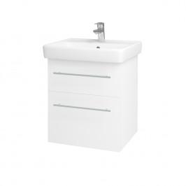 Dreja - Kúpeľňová skriňa Q MAX SZZ2 55 - N01 Bílá lesk / Úchytka T02 / L01 Bílá vysoký lesk 61251B