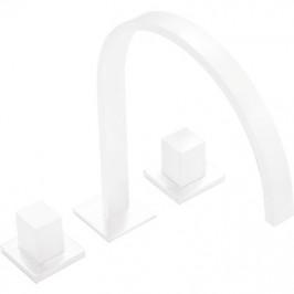 TRES - Kohoutková stojánková vanová baterie Možnost samostatné instalace. Ramínko 35x15mm se skrytým obdélníkovým perlátorem (00810501BM)