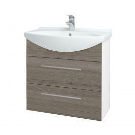 Dreja - Koupelnová skříň TAKE IT SZZ2 75 - N01 Bílá lesk / Úchytka T02 / D03 Cafe (152932B)