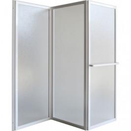 HOPA - Vanová zástěna KARINA - Barva rámu zástěny - Hliník bílý, Rozměr A - 70 cm, Směr zavírání - Univerzální Levé / Pravé, Výplň - Polystyrol 2,2 mm (acrilico) (OLBVZ1)