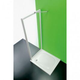 HOPA - Sprchová zástěna ANTA FISSA CC - Barva rámu zástěny - Plast bílý, Výplň - Polystyrol 2,2 mm (acrilico), Šíře - 80 cm (BSAFI80CCP)
