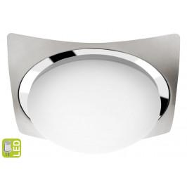 SAPHO - METUJE stropní LED svítidlo 26x26cm, 12W, 230V, chrom/broušená nerez (AU466)