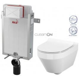 ALCAPLAST  Renovmodul - předstěnový instalační systém bez tlačítka + WC CERSANIT CLEANON CREA OVÁL + SEDÁTKO (AM115/1000 X CR1)
