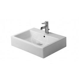 DURAVIT - Vero Umývadlo s prepadom, brúsené, 600 mmx470 mm, biele – jednootvorové umývadlo, s WonderGliss 04546000271