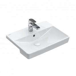 VILLEROY & BOCH - Avento Polozápustné umyvadlo s přepadem, tříotvorové, 550x360 mm, alpská bílá (4A065501)