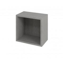 SAPHO - ESPACE otevřená policová skříňka 35x35x22cm, dub stříbrný (ESP151)