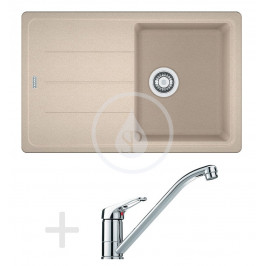 FRANKE - Sety Kuchyňský set G67, granitový dřez BFG 611-78, pískový melír + baterie FG 9541.031, chrom (114.0365.154)